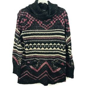 Lucky Brand Aztec Cowl Neck Sweater
